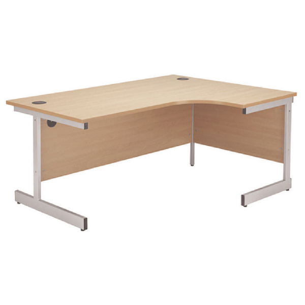 Image for Jemini Beech/Silver 1200mm Right Hand Radial Cantilever Desk