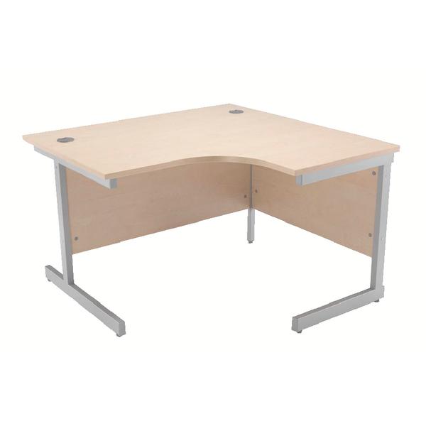 Jemini Maple 1200mm Right Hand Radial Cantilever Desk
