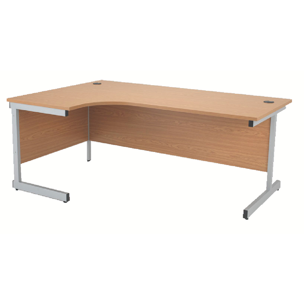Jemini Oak 1800mm Left Hand Radial Cantilever Desk