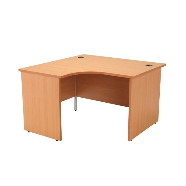 Image for Jemini Beech Left Hand Panel End Radial Desk 1200mm
