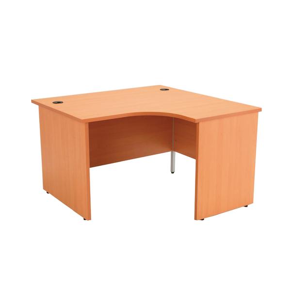 Image for Jemini Beech Right Hand Panel End Radial Desk 1200mm