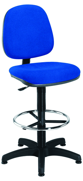 Jemini Blue Medium Back Draughtsman Chair