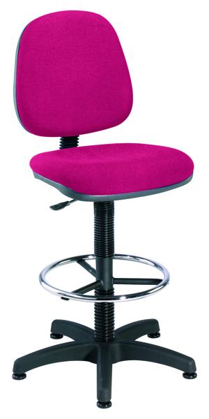 Jemini Claret Medium Back Draughtsman Chair