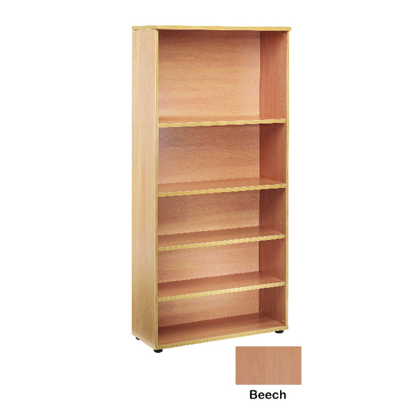 Jemini 1800mm Bookcase 4 Shelf Beech