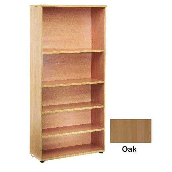 Jemini 4 Shelf Oak 2000mm Bookcase