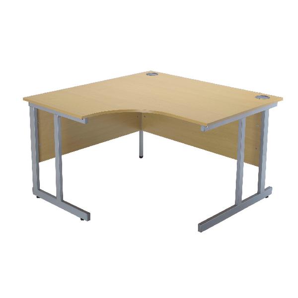 Jemini Ferrera Oak 1500mm Radial Left Hand Cantilever Desk KF838524
