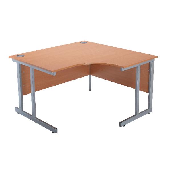 Jemini Intro Bavarian Beech 1200mm Radial Right Hand Cantilever Desk KF838526