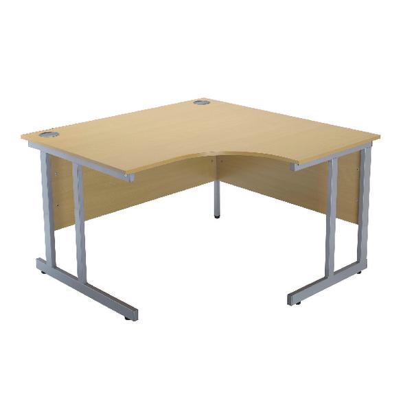 Jemini Intro Ferrera Oak 1200mm Radial Right Hand Cantilever Desk KF838527