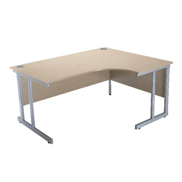 Jemini Intro Warm Maple 1500mm Radial Right Hand Cantilever Desk KF838531