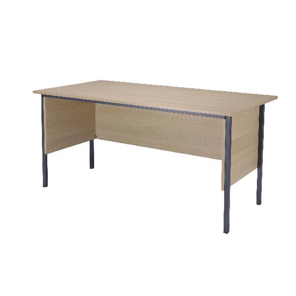 Jemini Intro 1500mm 4 Leg Desk Warm Maple
