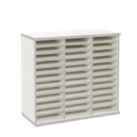 Jemini White Counter Top Double Storage Unit (Pack of 1)