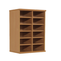 Jemini Beech Counter Top Double Storage Unit (Pack of 1)