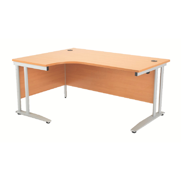 Image for Arista 1600mm Left Hand Beech Radial Desk