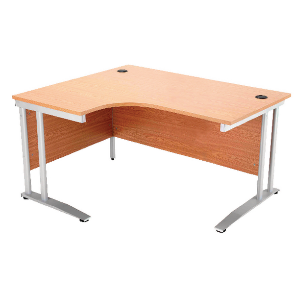 Image for Arista 1600mm Left Hand Oak Radial Desk