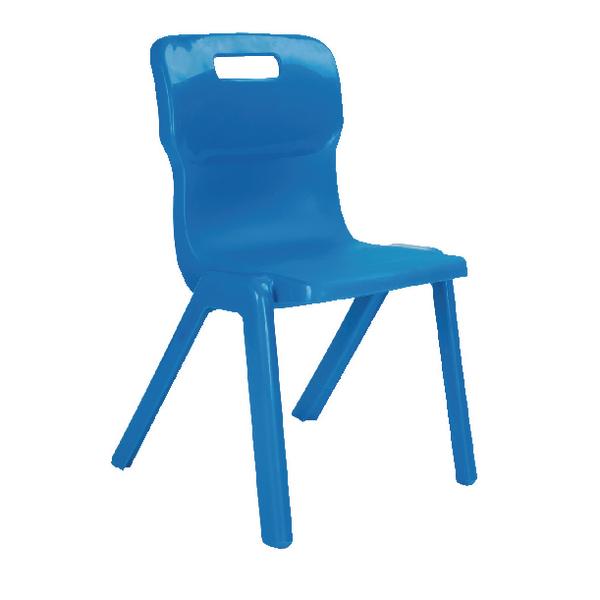 Titan 1 Piece 430mm Blue Chair (30 Pack)