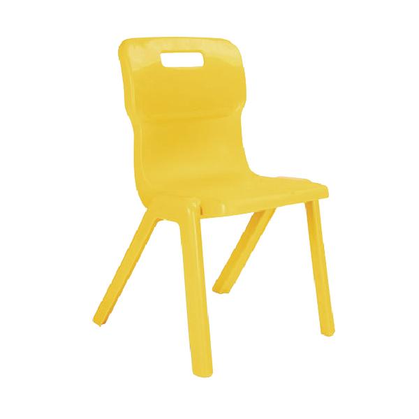 Titan 1 Piece 310mm Yellow Chair (30 Pack)