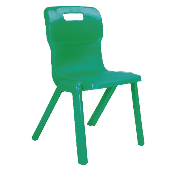 Titan 1 Piece 380mm Green Chair (30 Pack) KF838740