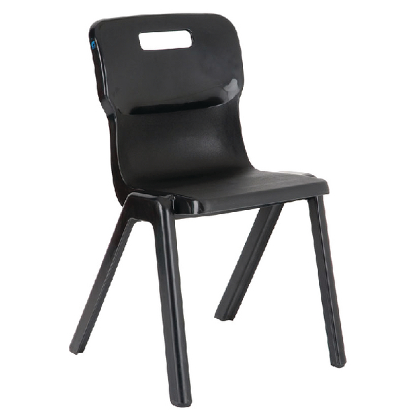 Titan 1 Piece 460mm Charcoal Chair (30 Pack)