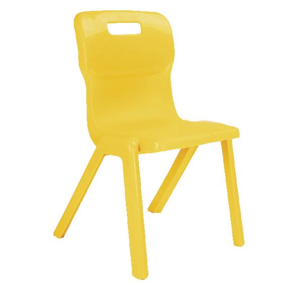 Titan 1 Piece 460mm Yellow Chair (30 Pack)