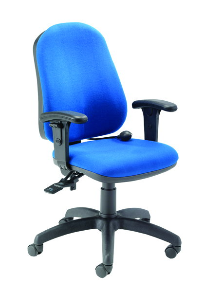 FF Posture Chair With Arms Blue