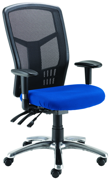 Avior Logan High Back Mesh Operator Blue Chair