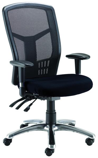 Avior Logan High Back Mesh Operator Black Chair