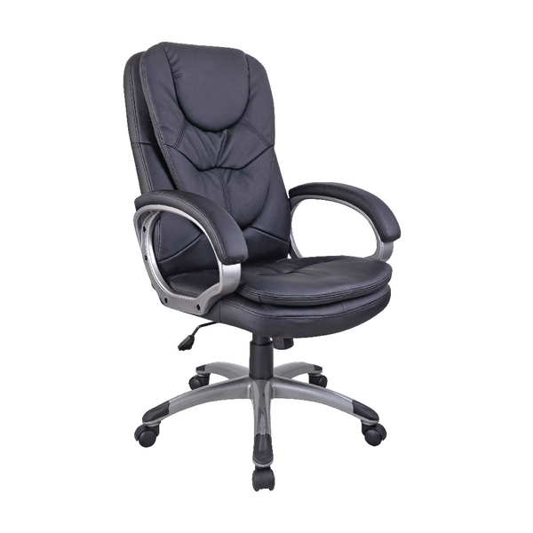 FF Arista Exec Leather Chair Blk 09Exl11