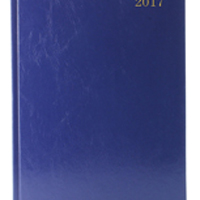 Diary A4 Day Per Page 2017 Blue (Pack of 1)