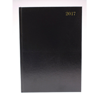 Diary A5 Week To View 2017 Black (Pack of 1)
