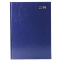 Image for A5 Week to View 2018 Blue Desk Diary