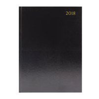A4 Day Per Page Appointment Diary Black