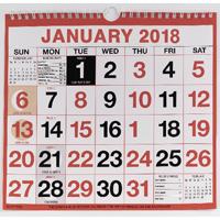 Wirebound Calendar 249x231mm 2018