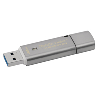 Kingston Silver DataTraveler Locker+ G3 USB 3.0 Encrypted 32Gb Flash Drive DTLPG3/32GB