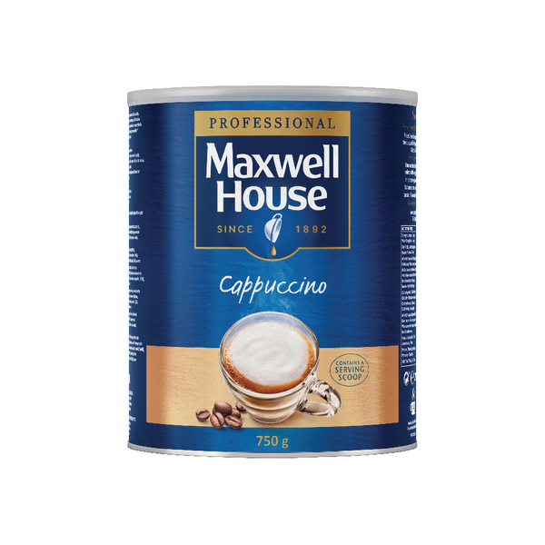 Maxwell House Instant Cappuccino Powder 750g Tin 4032036