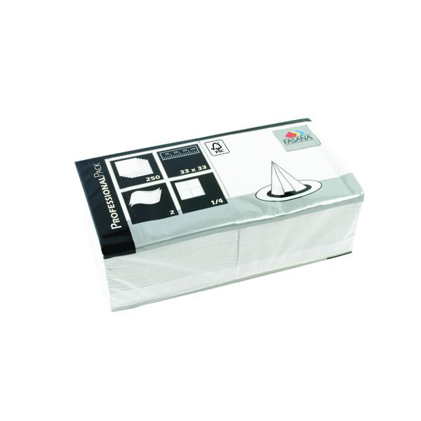 Katrin Napkin 33x33cm 2 Ply White (Pack of 1500) 97419