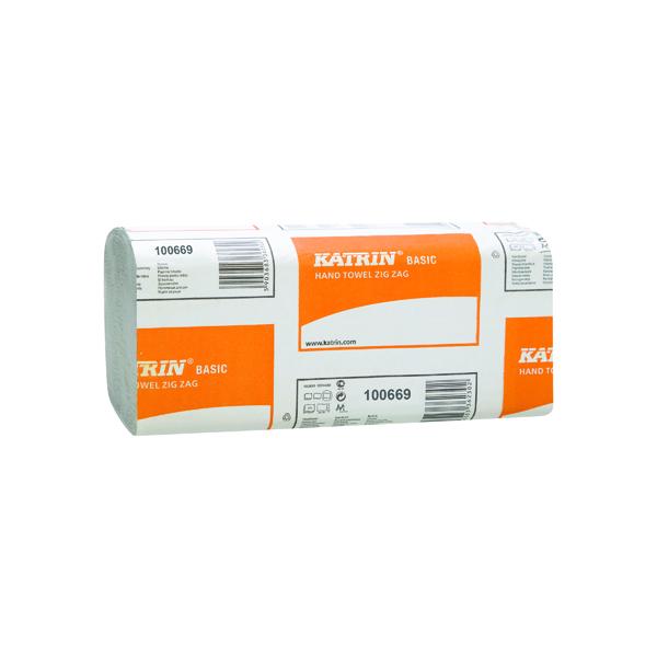 Katrin Basic Zig Zag White Hand Towels (Pack of 5000) 100669