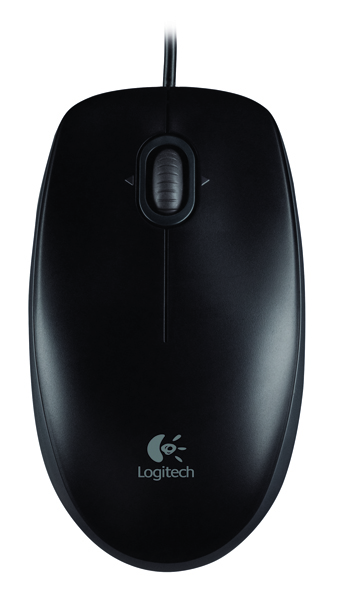 Logitech USB Black B100 Optical Mouse 910-001246