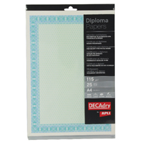 Image for Decadry A4 Helicoid Turquoise/Blue B Certificate Paper 115gsm (Pack of 25) OSD4052