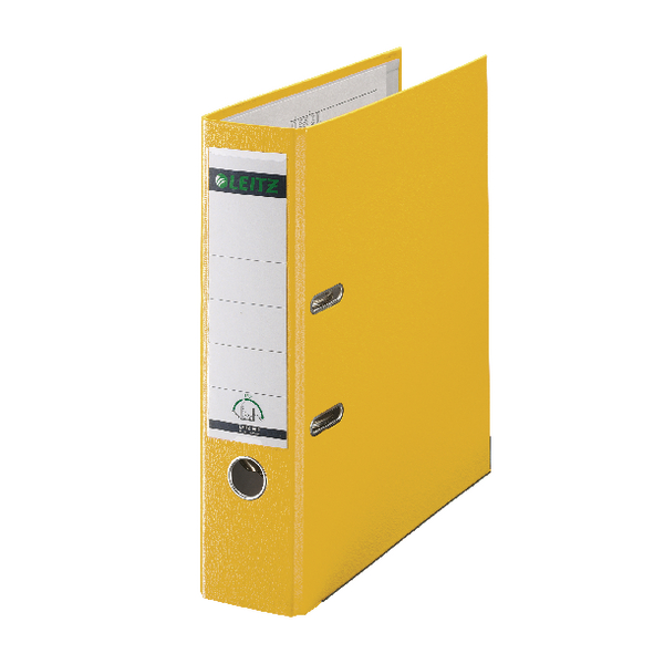 Leitz Yellow Lever Arch File A4 80mm (Pack of 10) 10101015
