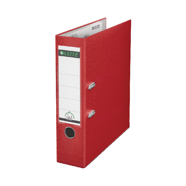 Leitz 180 Polypropylene A4 80mm Red Lever Arch File (Pack of 10) 10101025