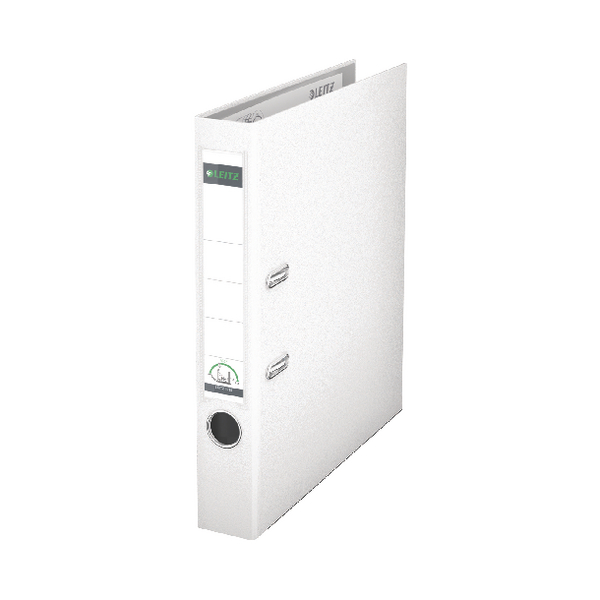 Leitz 180 Polypropylene A4 50mm White Lever Arch File (Pack of 10) 10151001
