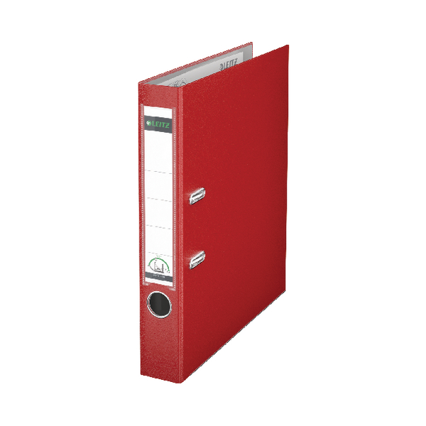 Leitz Red Mini A4 Lever Arch File 52mm (Pack of 10) 10151025