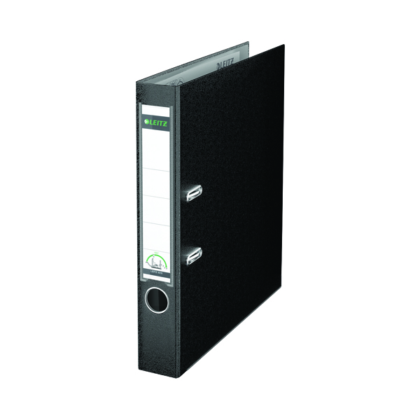 Leitz 180 Polypropylene A4 50mm Black Lever Arch File (Pack of 10) 10151095
