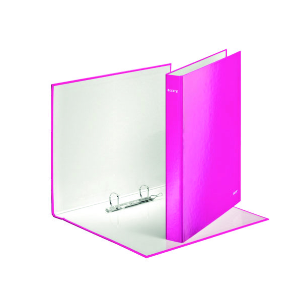 Leitz Wow A4+ 25mm Pink 2 D-Ring Binder (Pack of 10) 42410023