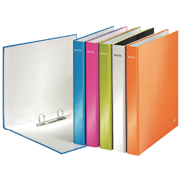Leitz Wow A4 Plus 25mm Assorted 2 D-Ring Binder (Pack of 10) 42410099