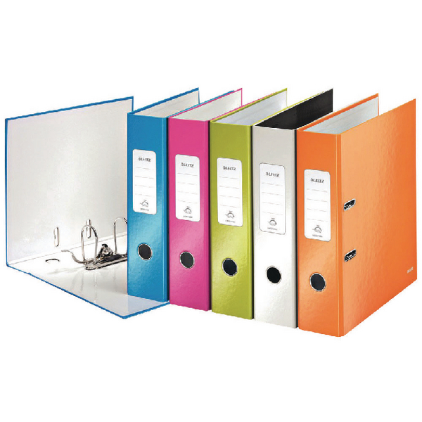 Leitz 180 Wow 80mm Assorted A4 Lever Arch File (Pack of 10) 10050099