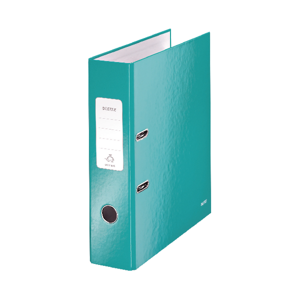Leitz WOW Lever Arch File Ice Blue A4 80mm (Pack of 10) 10050051