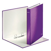 Leitz WOW Ring Binder Purple 25mm (Pack of 10) 42410062