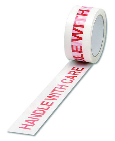 White/Red Polypropylene Tape Printed Handle With Care 50mmx66m (Pack of 6) 70581500