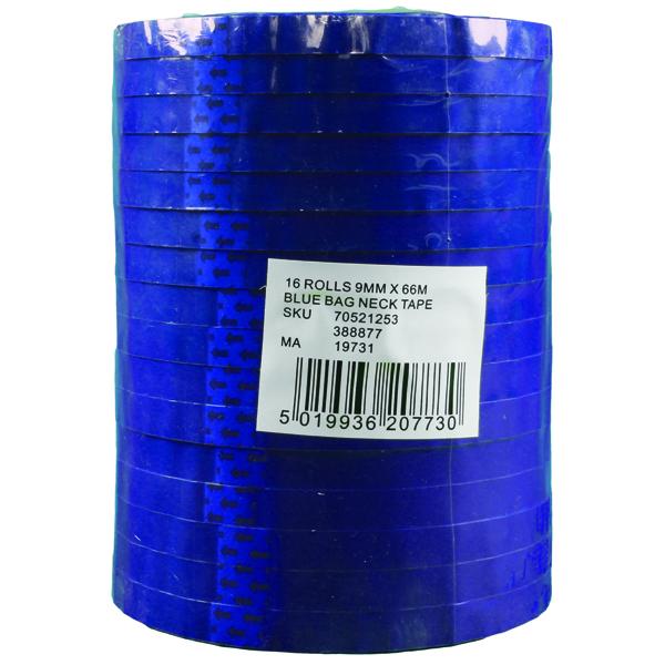 Blue Polypropylene Tape 9mm x66m (Pack of 16) 70521253